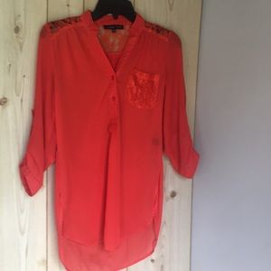 Mango color tunic blouse